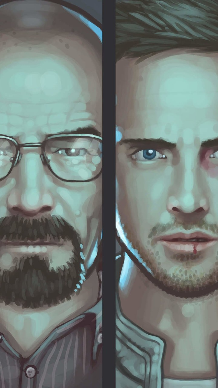 Breaking Bad Characters Wallpaper for SAMSUNG Galaxy Note 2