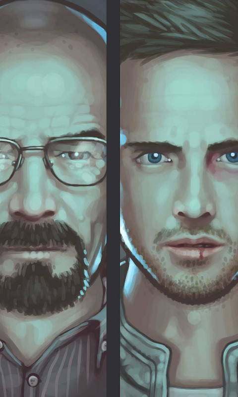 Breaking Bad Characters Wallpaper for HTC Desire HD