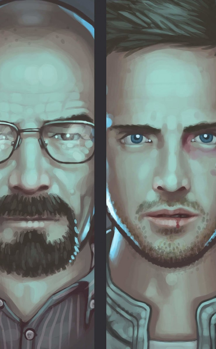 Breaking Bad Characters Wallpaper for Apple iPhone 4 / 4s