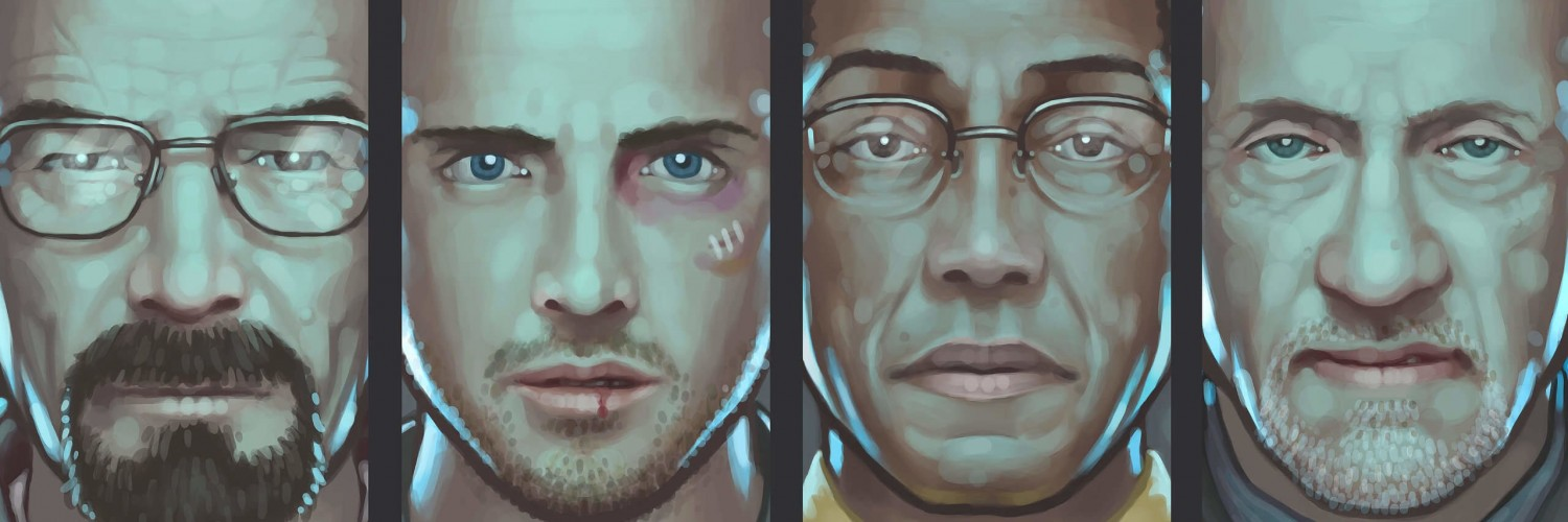 Breaking Bad Characters Wallpaper for Social Media Twitter Header