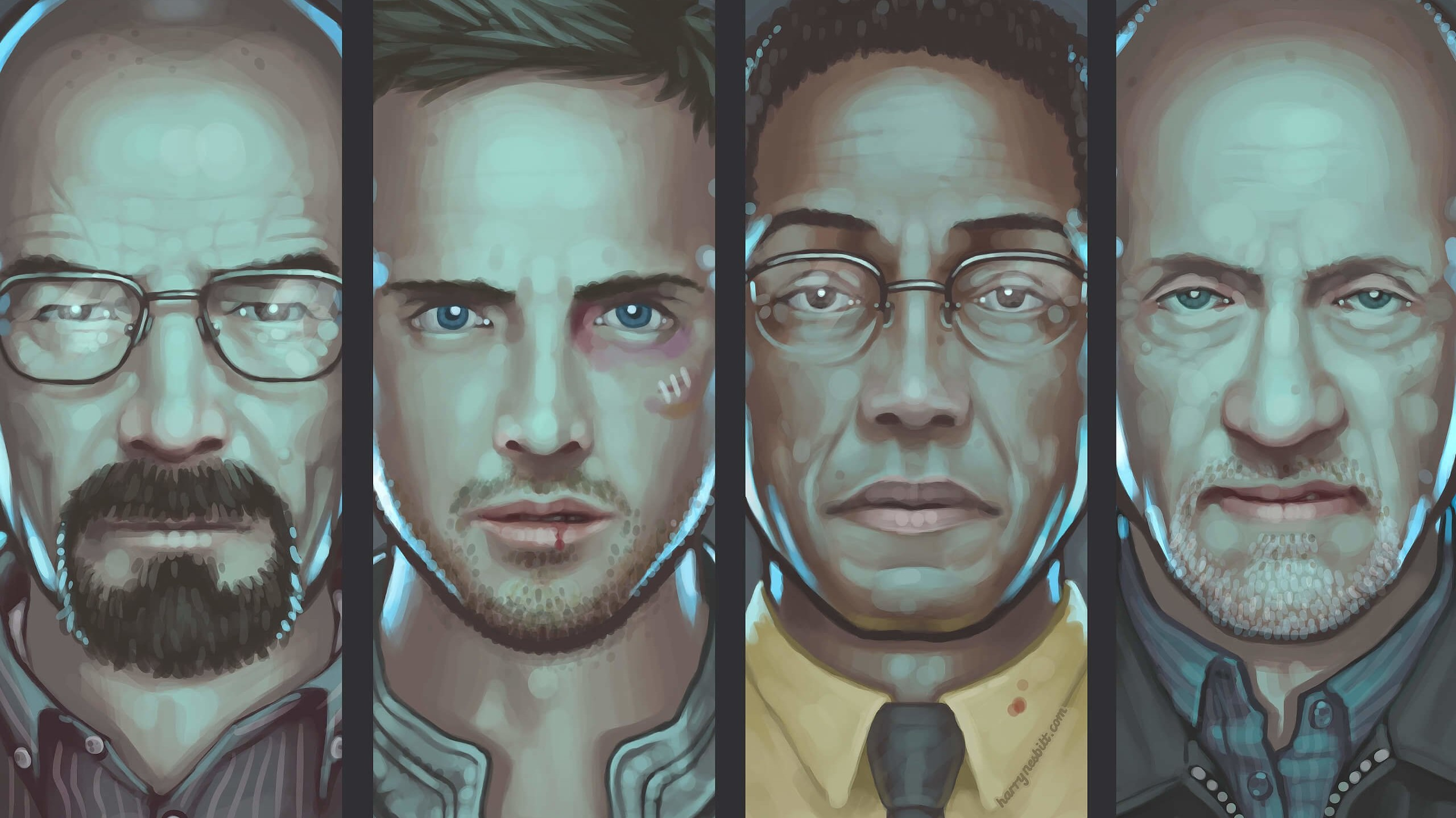 Breaking Bad Characters Wallpaper for Social Media YouTube Channel Art