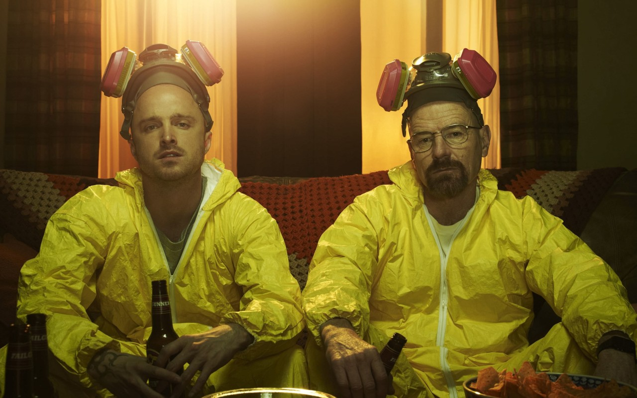 Breaking Bad - Jesse & Walt Drinking Wallpaper for Desktop 1280x800