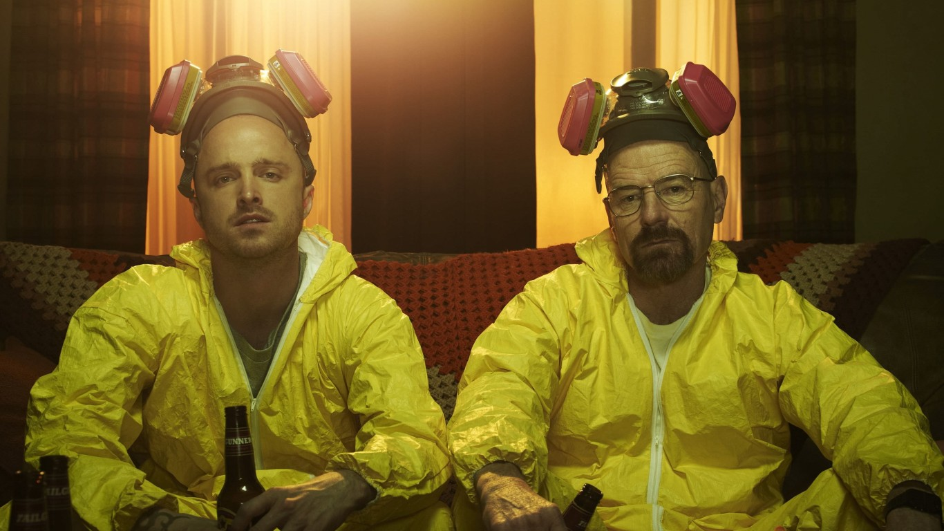 Breaking Bad - Jesse & Walt Drinking Wallpaper for Desktop 1366x768