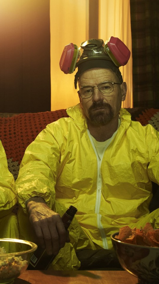 Breaking Bad - Jesse & Walt Drinking Wallpaper for SAMSUNG Galaxy S4 Mini