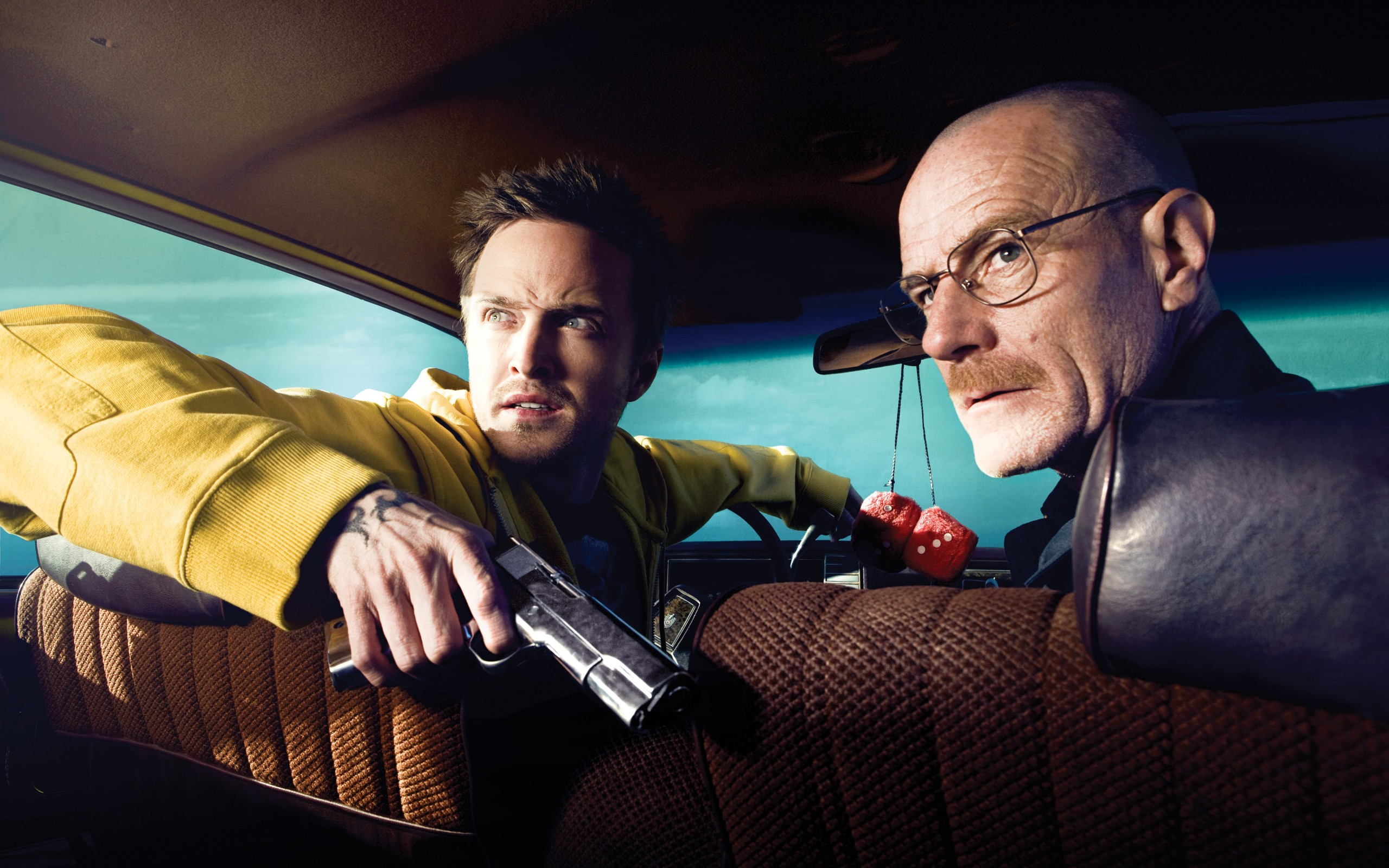 Breaking Bad - Jesse Pinkman & Walter White Wallpaper for Desktop 2560x1600