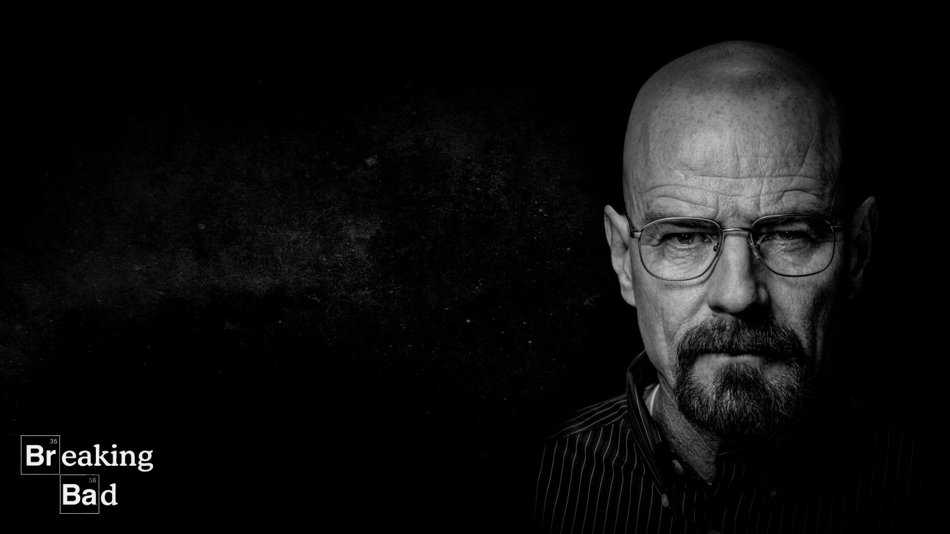 Breaking Bad - Walter White - Black & White Wallpaper for Desktop 1366x768