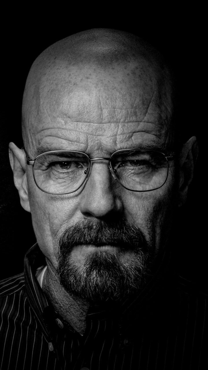 Breaking Bad - Walter White - Black & White Wallpaper for SAMSUNG Galaxy S3
