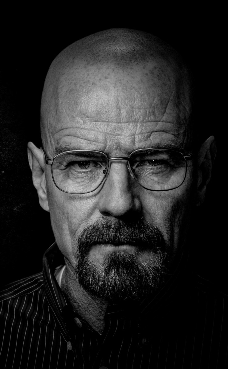Breaking Bad - Walter White - Black & White Wallpaper for Apple iPhone 4 / 4s