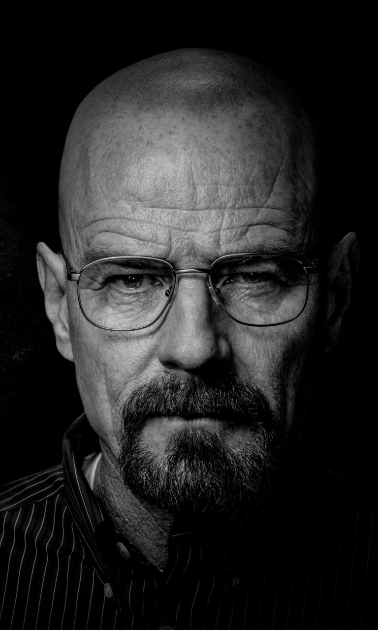 Breaking Bad - Walter White - Black & White Wallpaper for Google Nexus 4