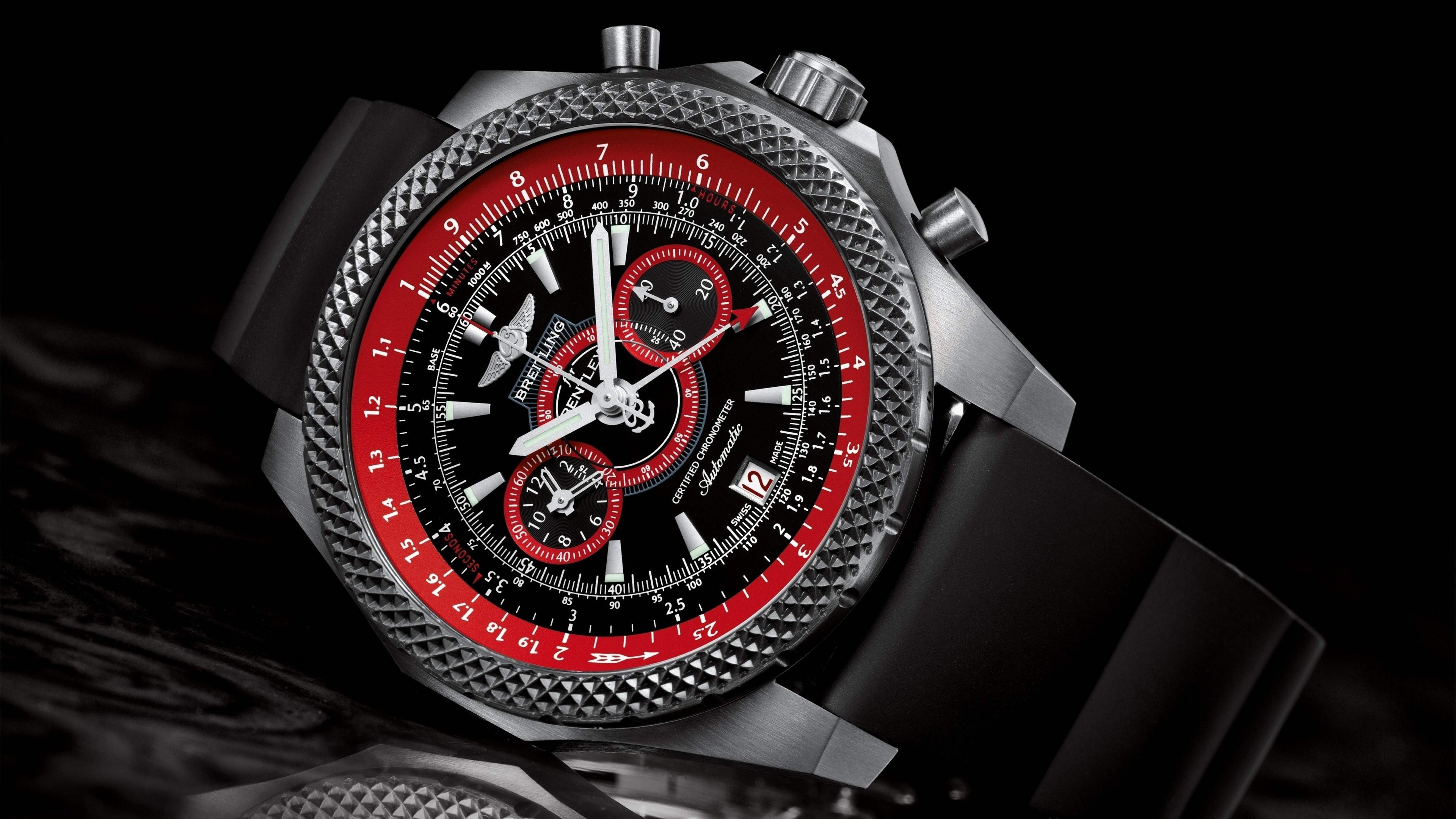 Breitling Watch Wallpaper for Desktop 4K 3840x2160