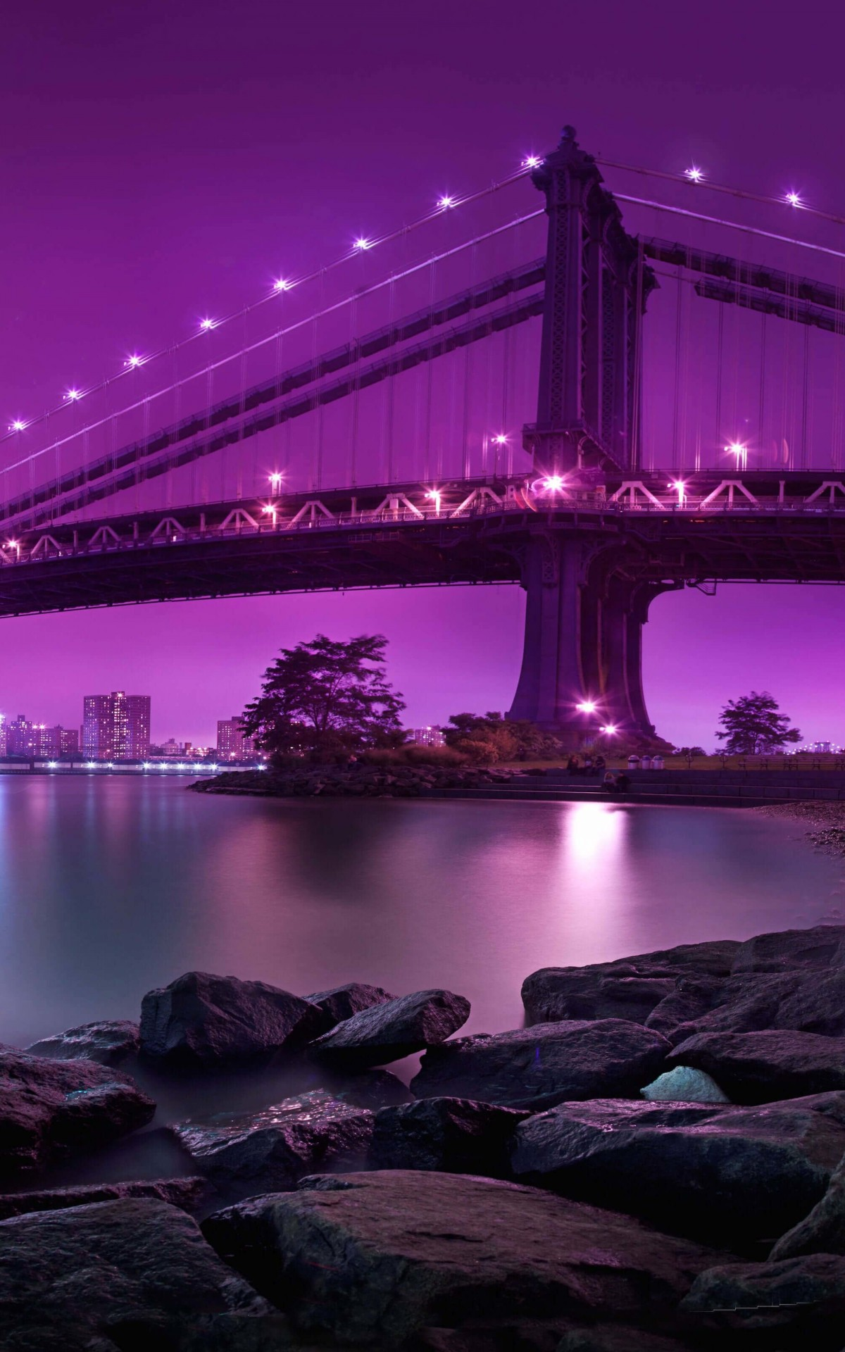 Brooklyn Bridge by night Wallpaper for Amazon Kindle Fire HDX