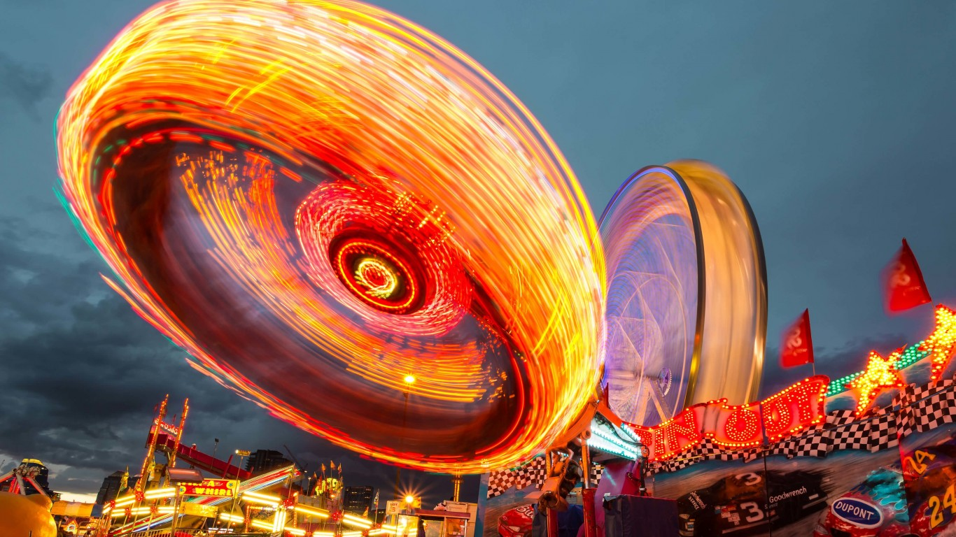 Calgary Stampede Lights Wallpaper for Desktop 1366x768