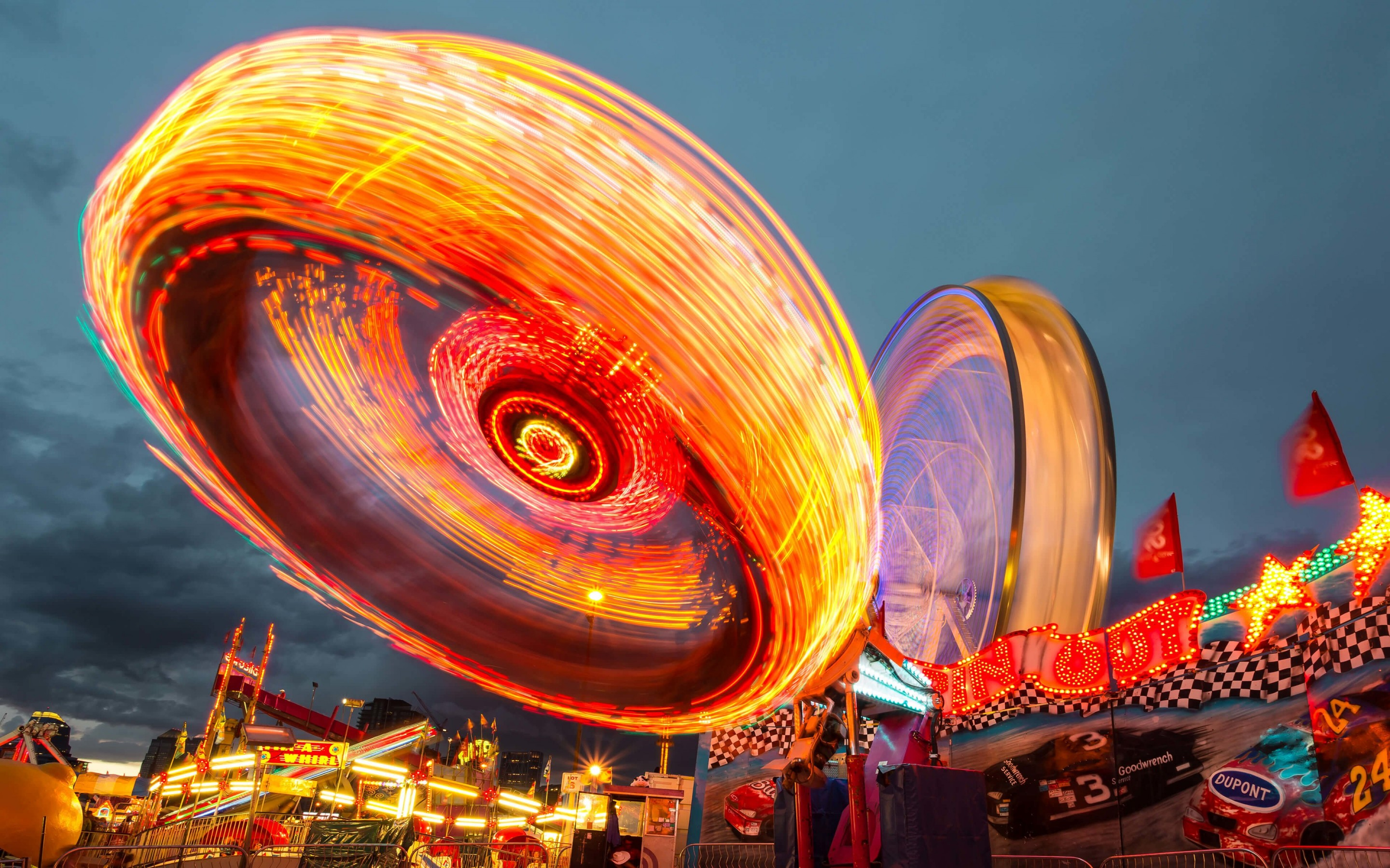 Calgary Stampede Lights Wallpaper for Desktop 2880x1800