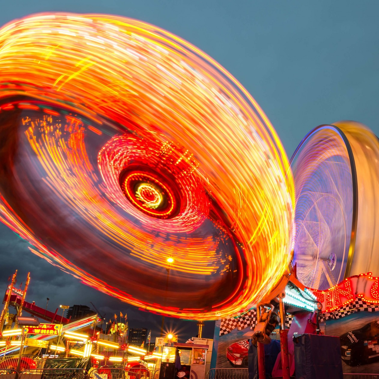 Calgary Stampede Lights Wallpaper for Apple iPad mini