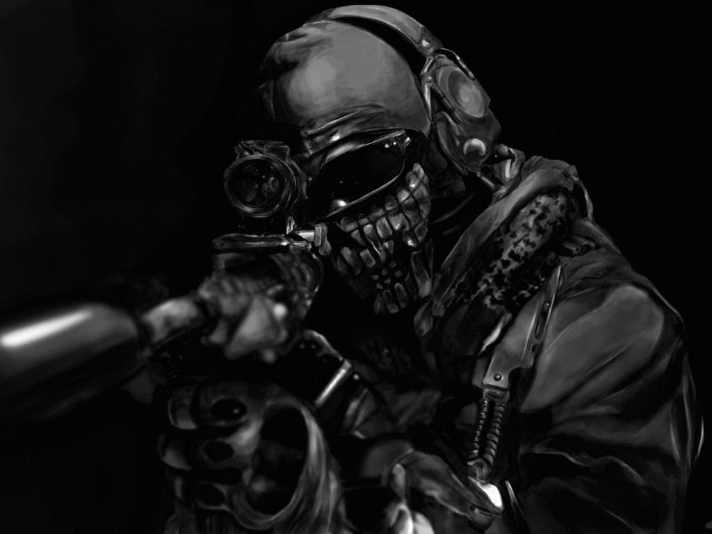 Call of Duty Ghost Masked Warrior Wallpaper for Desktop 1024x768
