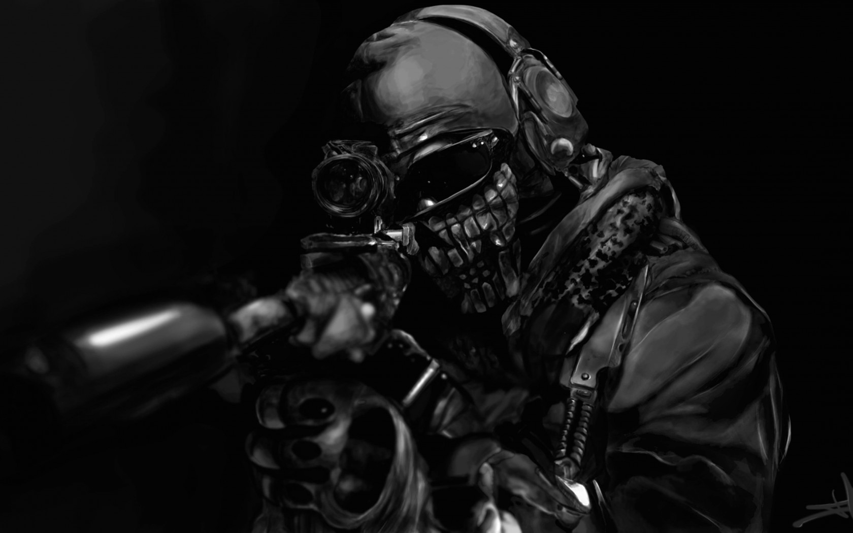Call of Duty Ghost Masked Warrior Wallpaper for Desktop 1680x1050