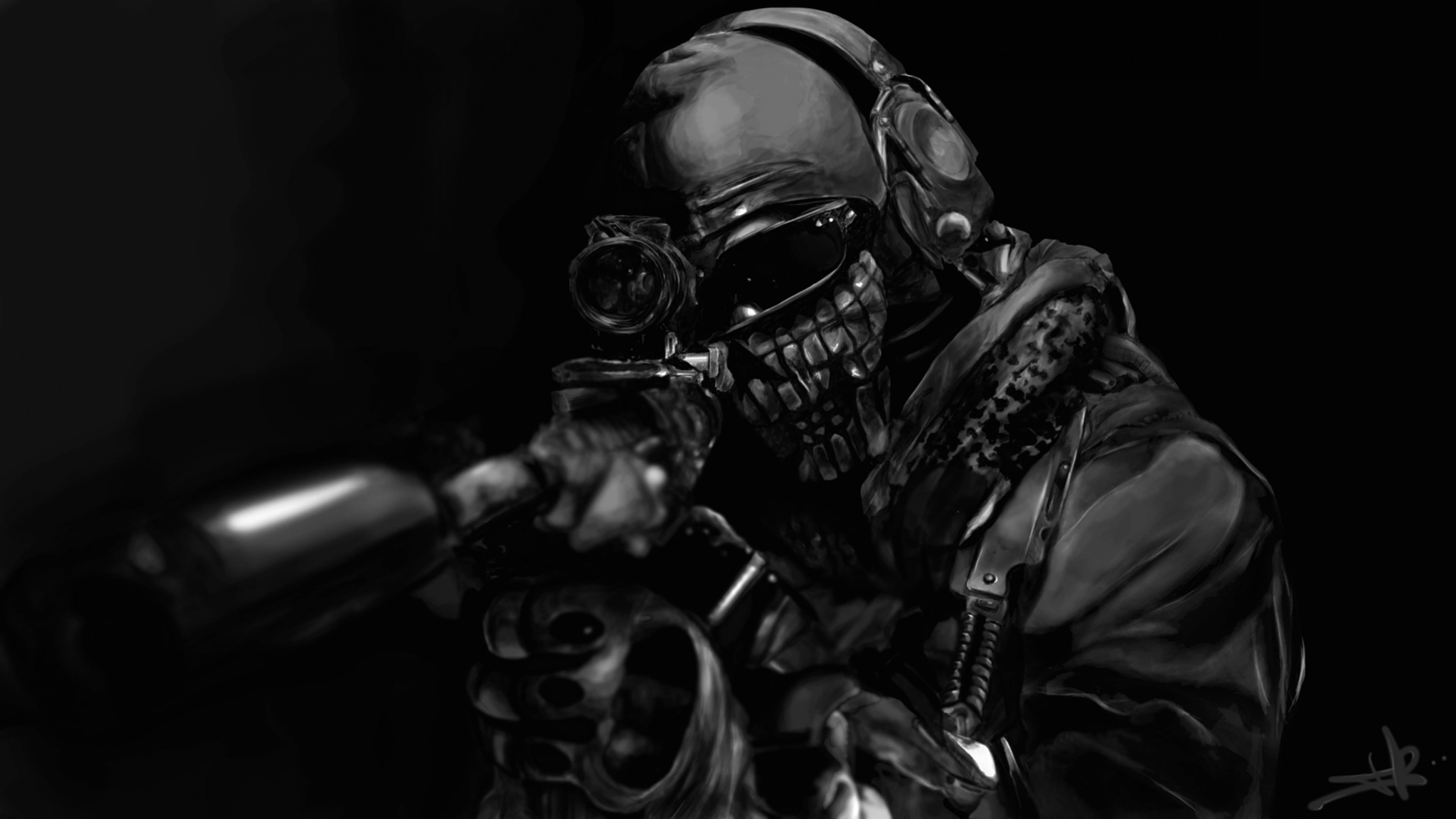 Call of Duty Ghost Masked Warrior Wallpaper for Desktop 4K 3840x2160
