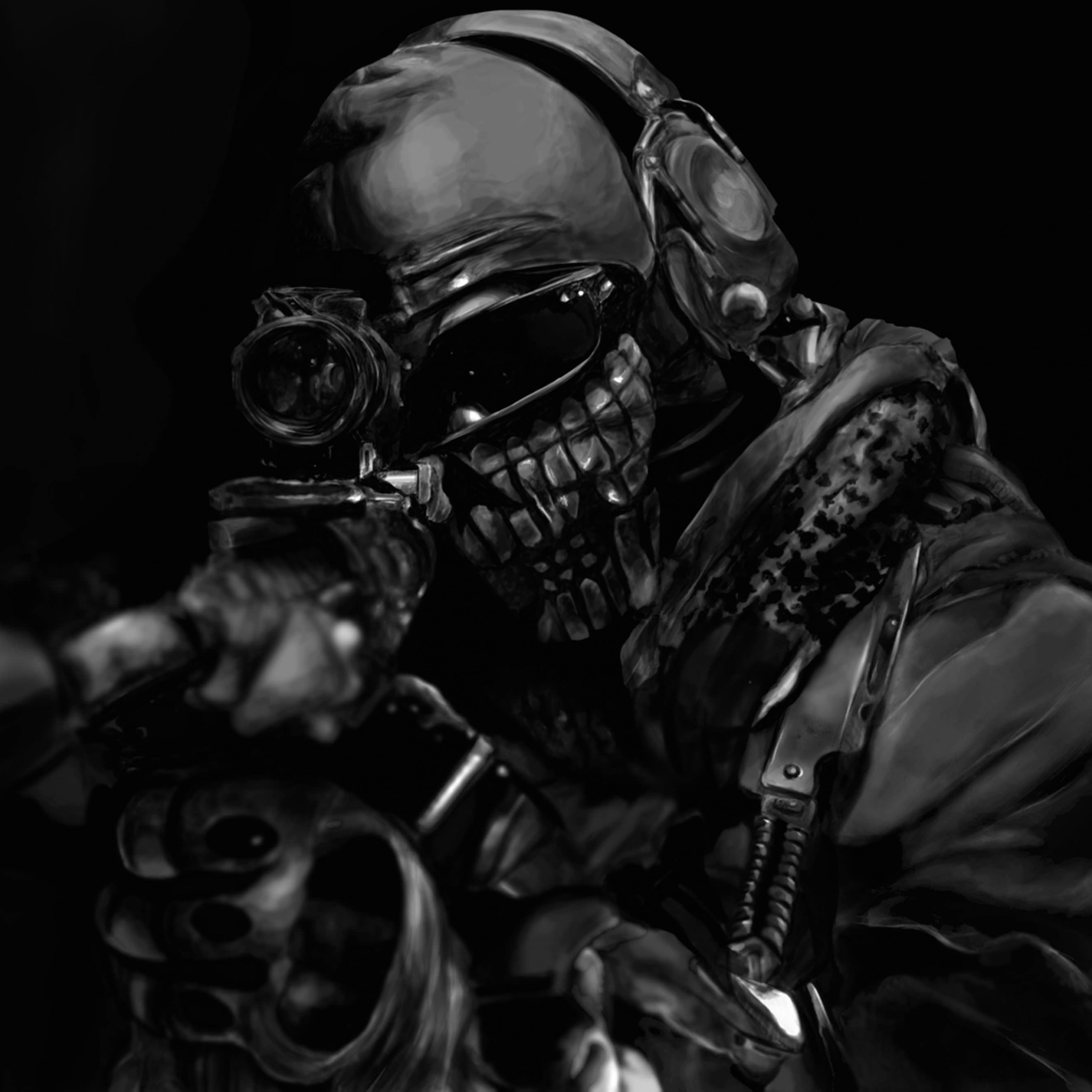 Call of Duty Ghost Masked Warrior Wallpaper for Apple iPad Air