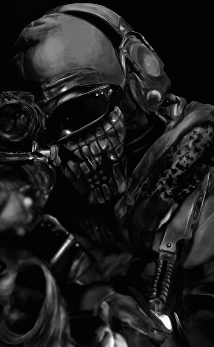Call of Duty Ghost Masked Warrior Wallpaper for Apple iPhone 4 / 4s