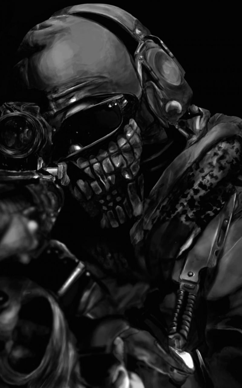 Call of Duty Ghost Masked Warrior Wallpaper for Amazon Kindle Fire HD