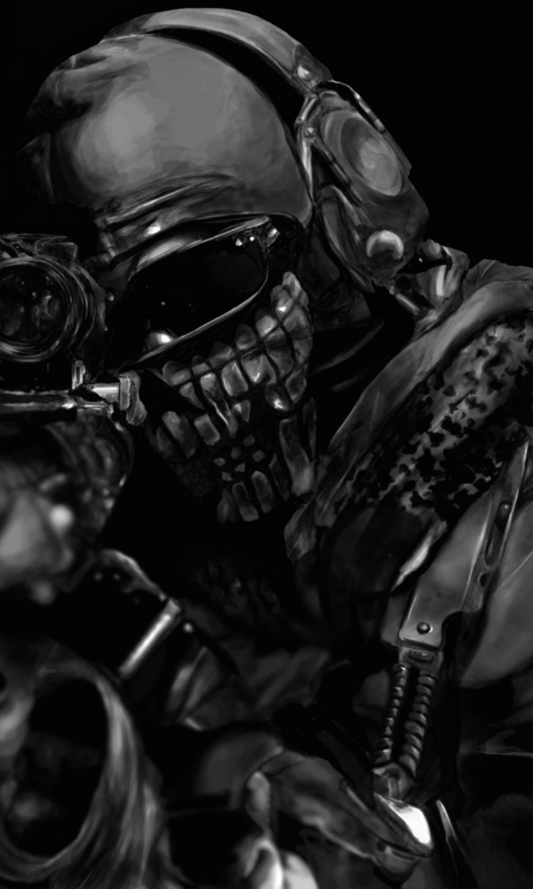 Call of Duty Ghost Masked Warrior Wallpaper for LG Optimus G