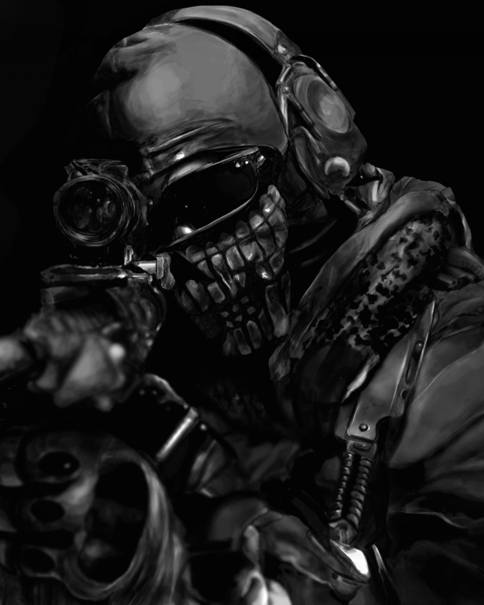Call of Duty Ghost Masked Warrior Wallpaper for Google Nexus 7