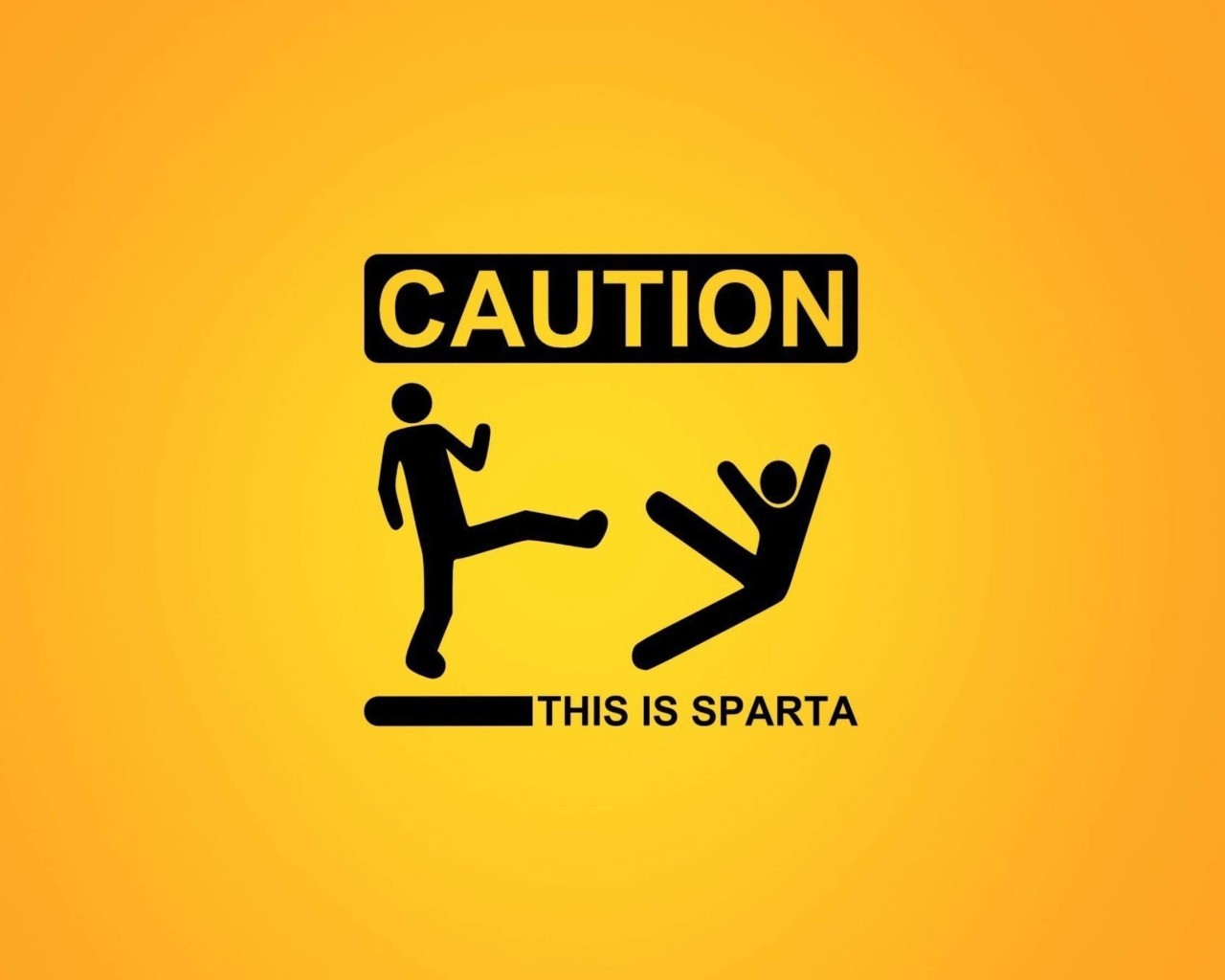 Caution: This Is Sparta! Wallpaper for Desktop 1280x1024