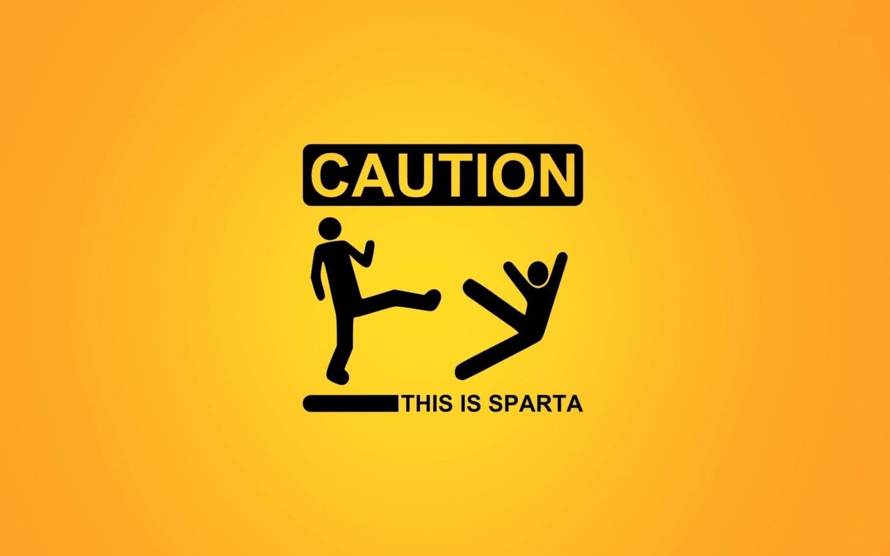 Caution: This Is Sparta! Wallpaper for Desktop 1280x800
