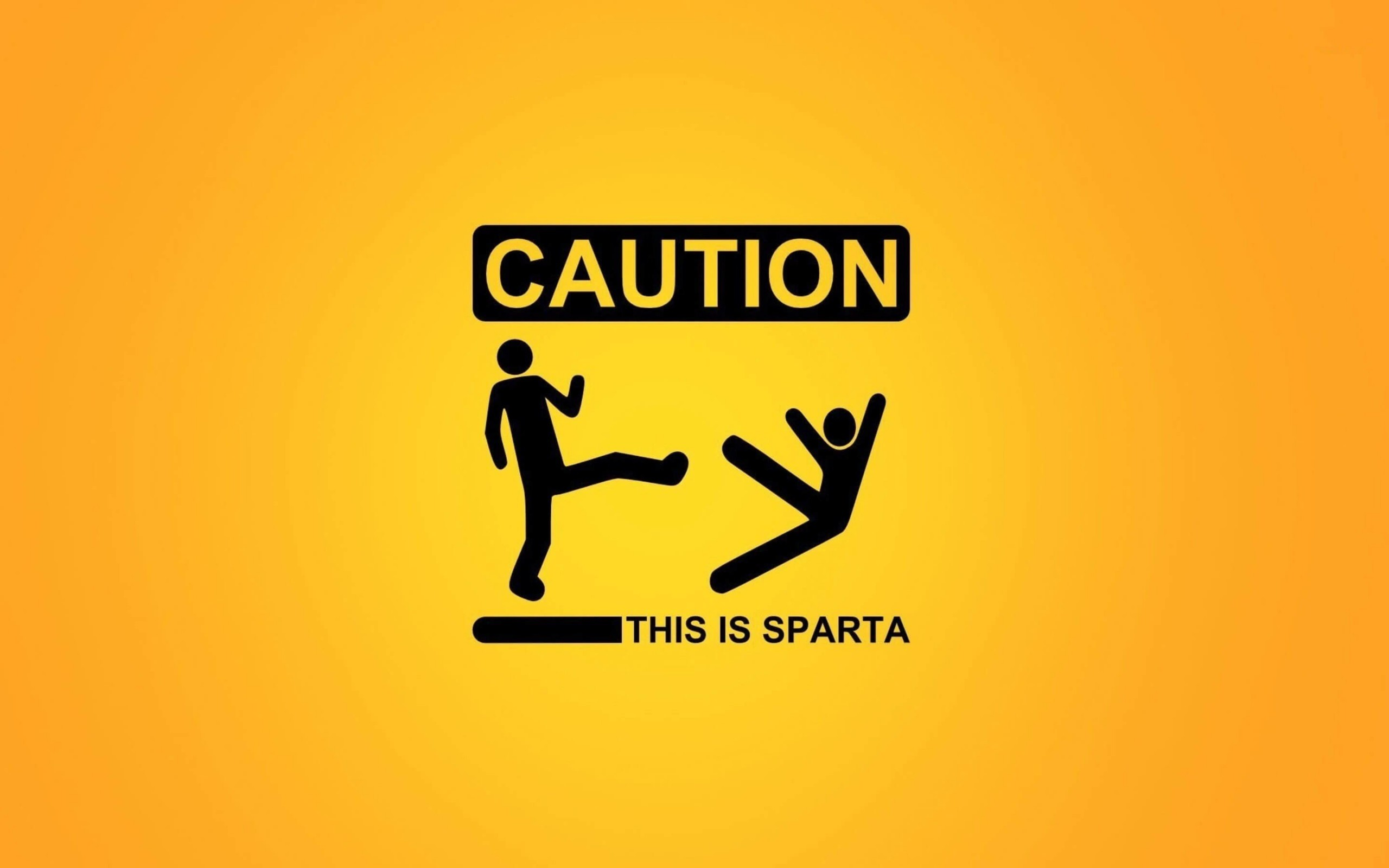 Caution: This Is Sparta! Wallpaper for Desktop 2560x1600