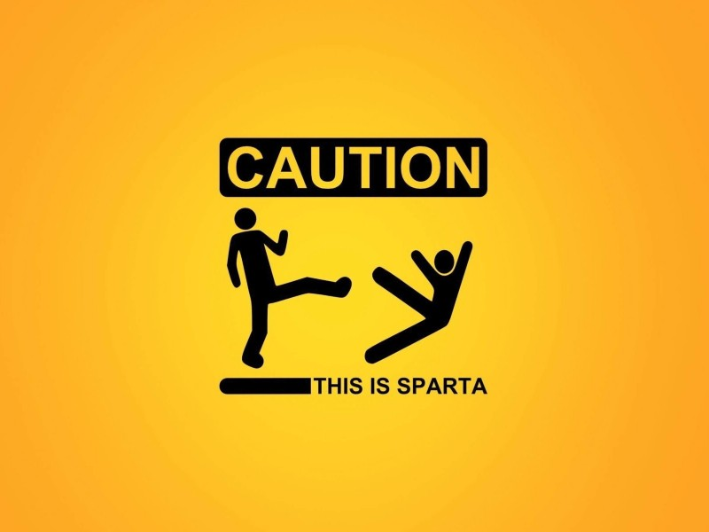 Caution: This Is Sparta! Wallpaper for Desktop 800x600