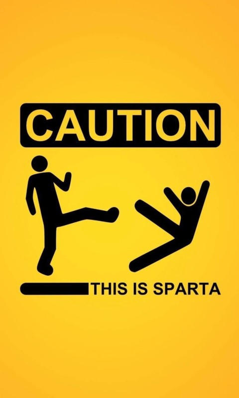 Caution: This Is Sparta! Wallpaper for SAMSUNG Galaxy S3 Mini