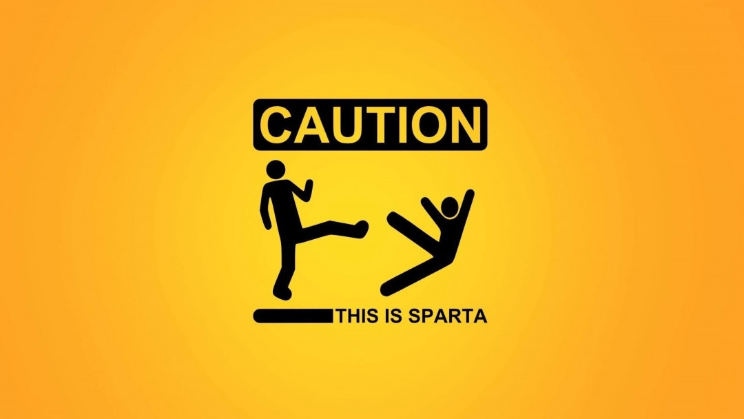 Caution: This Is Sparta! Wallpaper for Social Media Google Plus Cover