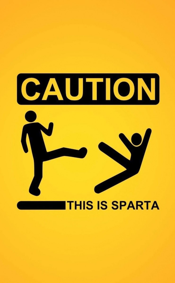 Caution: This Is Sparta! Wallpaper for Apple iPhone 4 / 4s