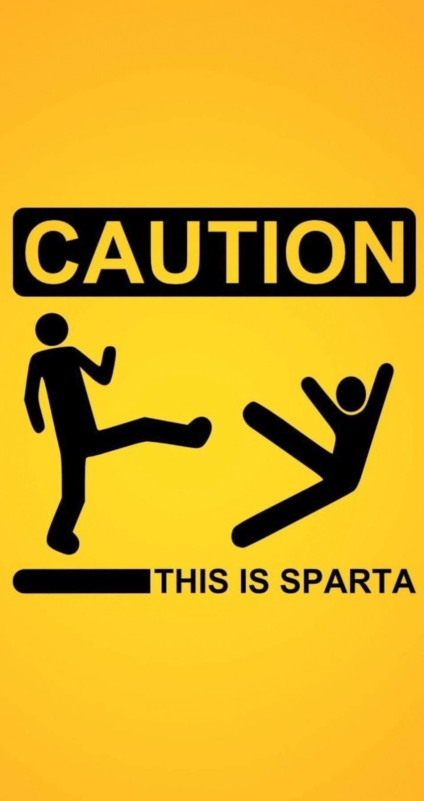 Caution: This Is Sparta! Wallpaper for Apple iPhone 6 / 6s