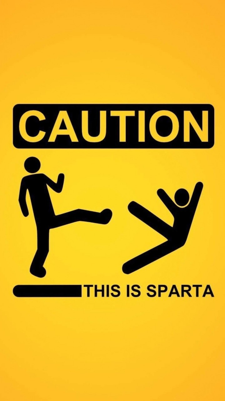 Caution: This Is Sparta! Wallpaper for Motorola Moto G