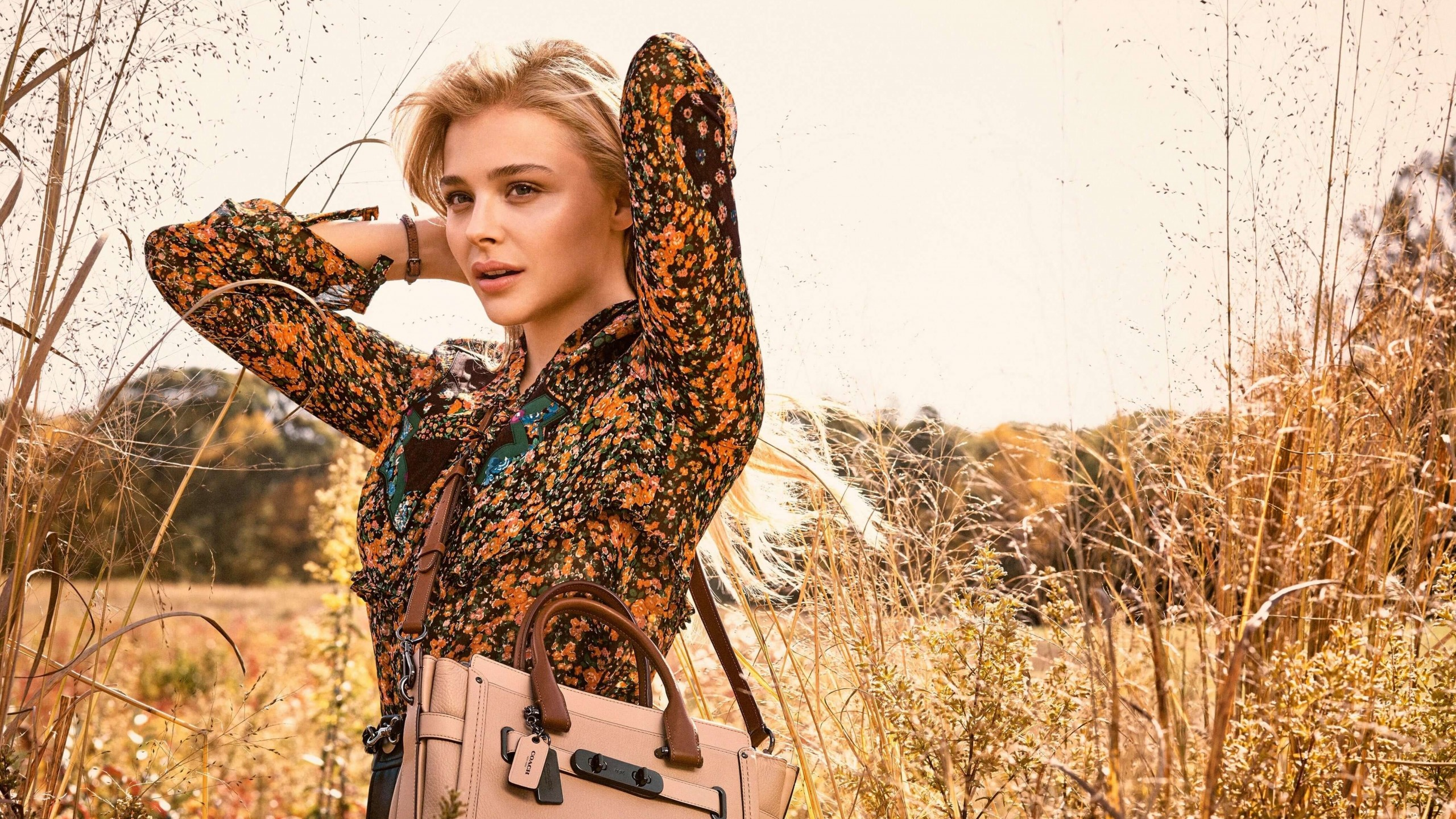 Chloe Moretz Coach Spring 2016 Campaign Wallpaper for Social Media YouTube Channel Art