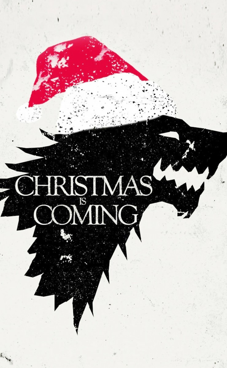 Christmas is Coming Wallpaper for Apple iPhone 4 / 4s