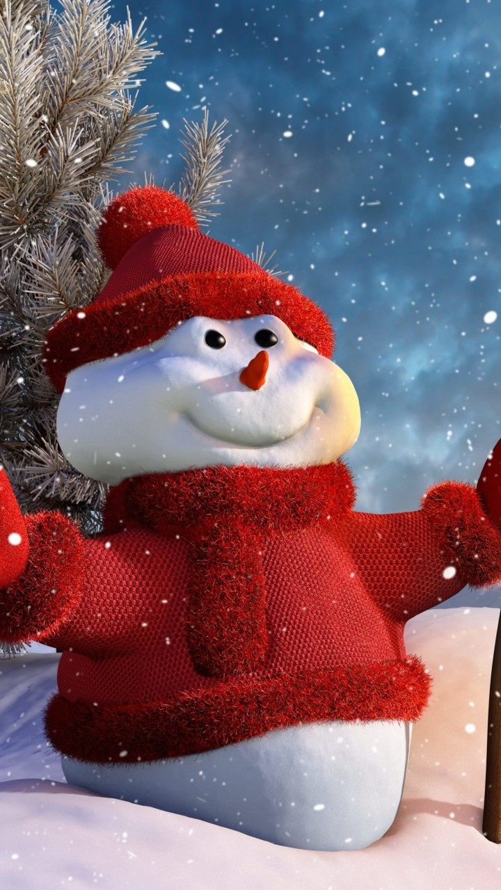 Christmas Snowman Wallpaper for HTC One X