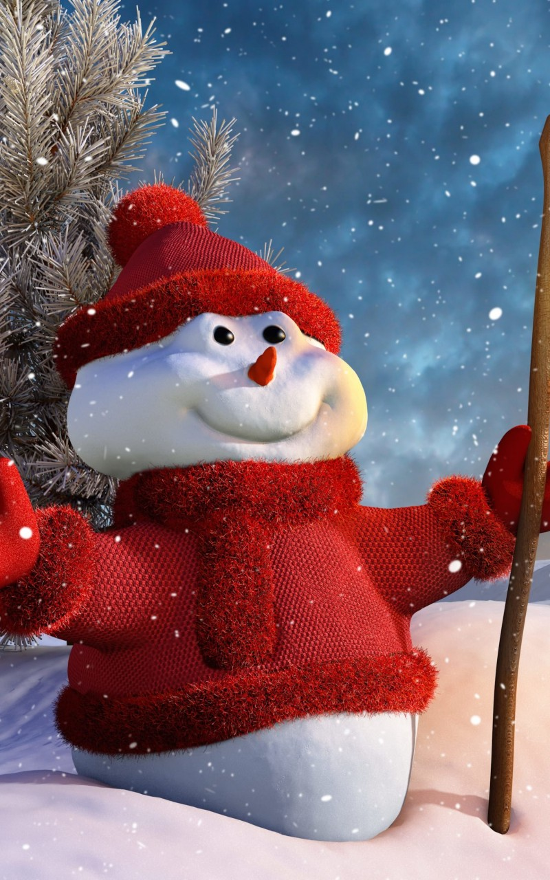 Christmas Snowman Wallpaper for Amazon Kindle Fire HD