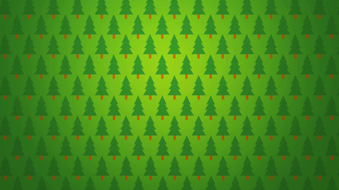 Download Christmas Tree Pattern HD wallpaper for 1366 x 768 ...