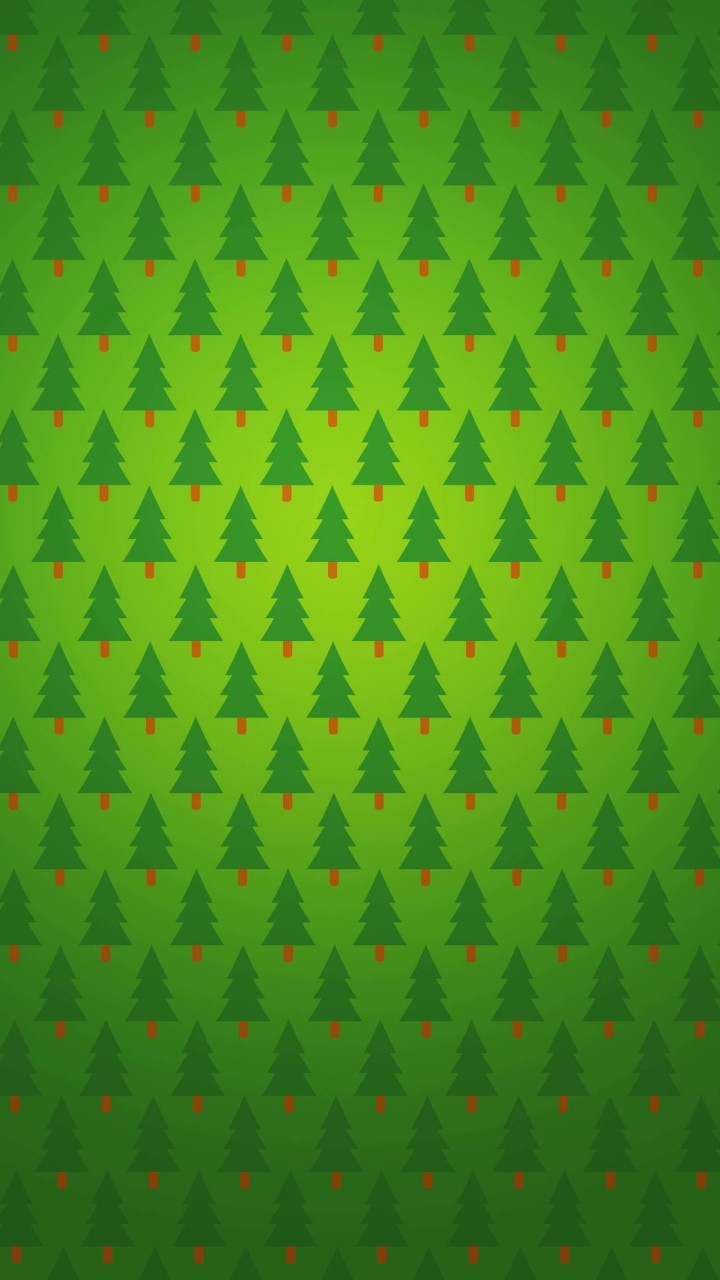 Christmas Tree Pattern Wallpaper for SAMSUNG Galaxy S3
