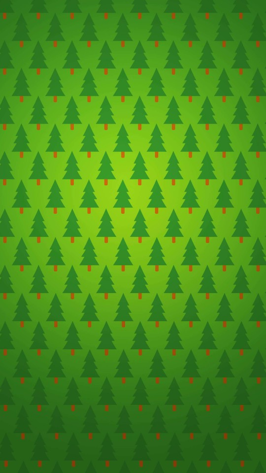 Christmas Tree Pattern Wallpaper for SAMSUNG Galaxy S4 Mini