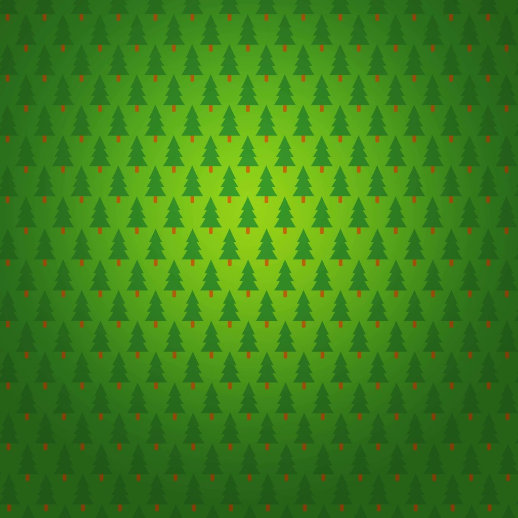 Christmas Tree Pattern Wallpaper for Apple iPad 2