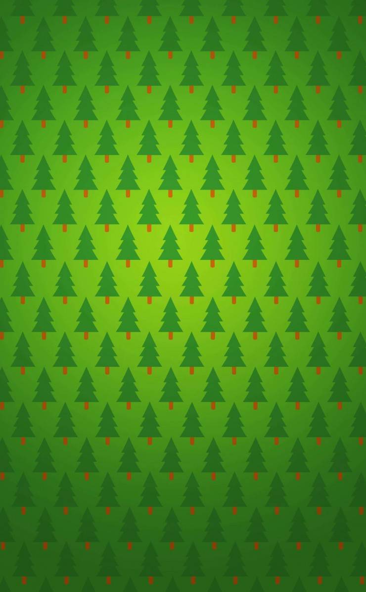 Christmas Tree Pattern Wallpaper for Apple iPhone 4 / 4s