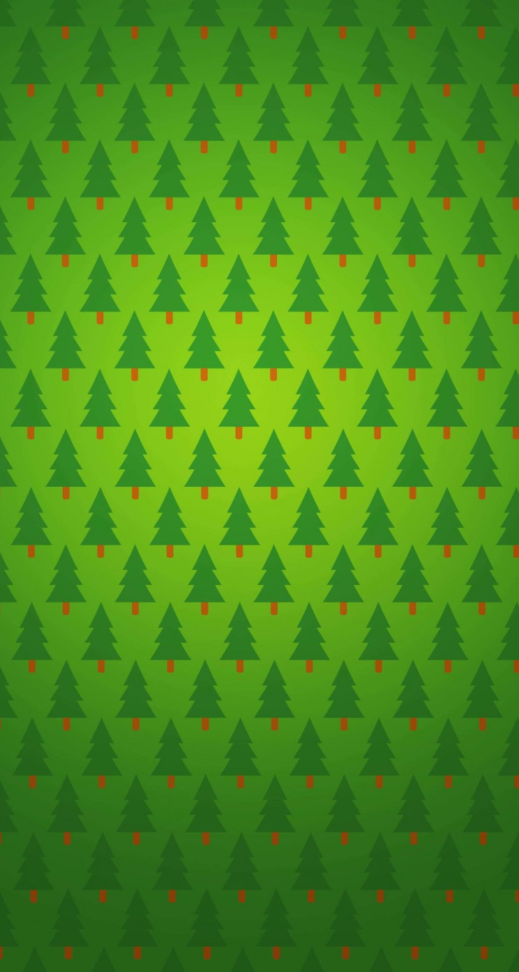 Christmas Tree Pattern Wallpaper for Apple iPhone 5 / 5s