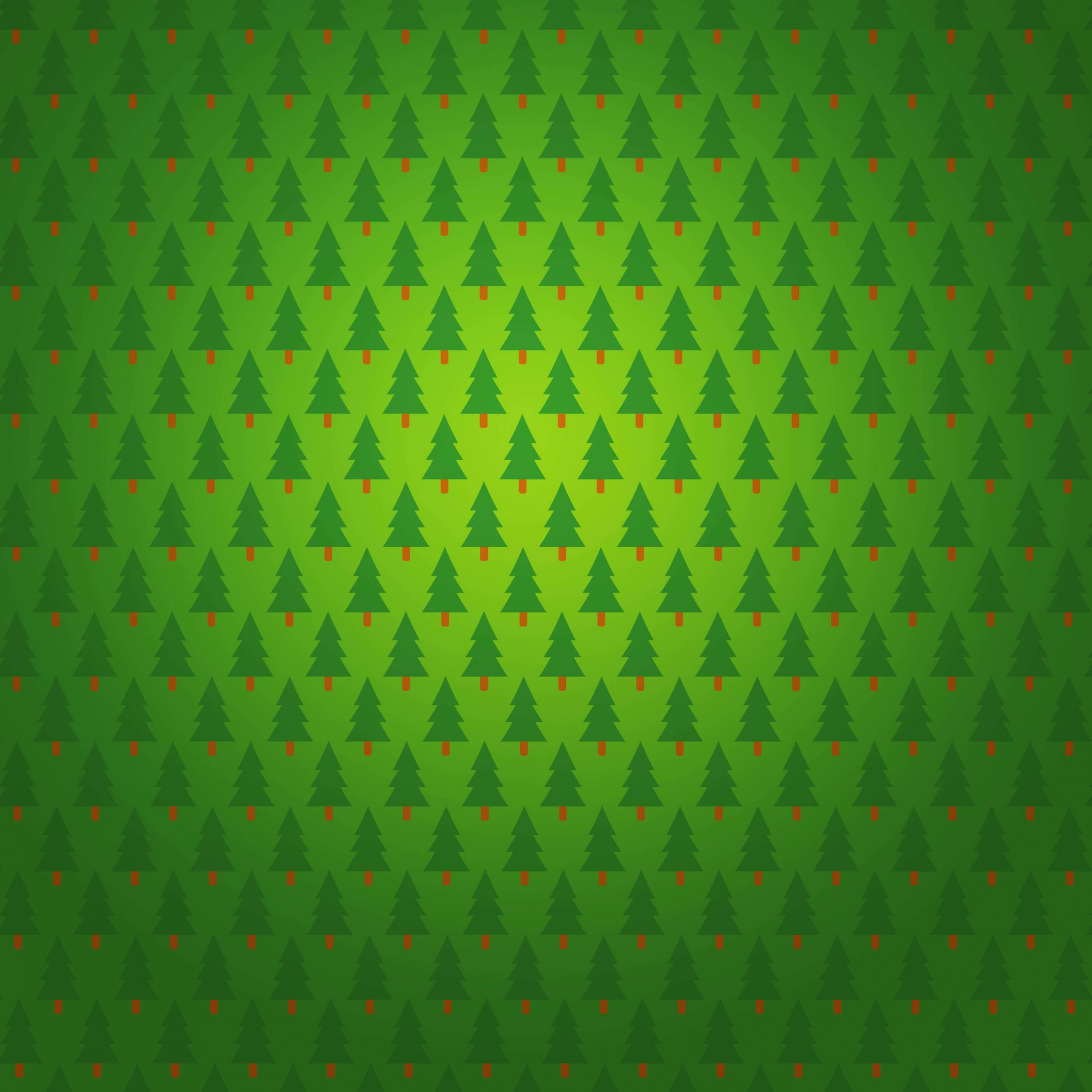 Christmas Tree Pattern Wallpaper for Apple iPhone 6 Plus