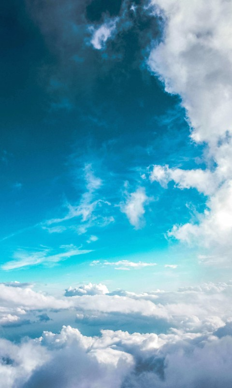Cloudy Blue Sky Wallpaper for SAMSUNG Galaxy S3 Mini