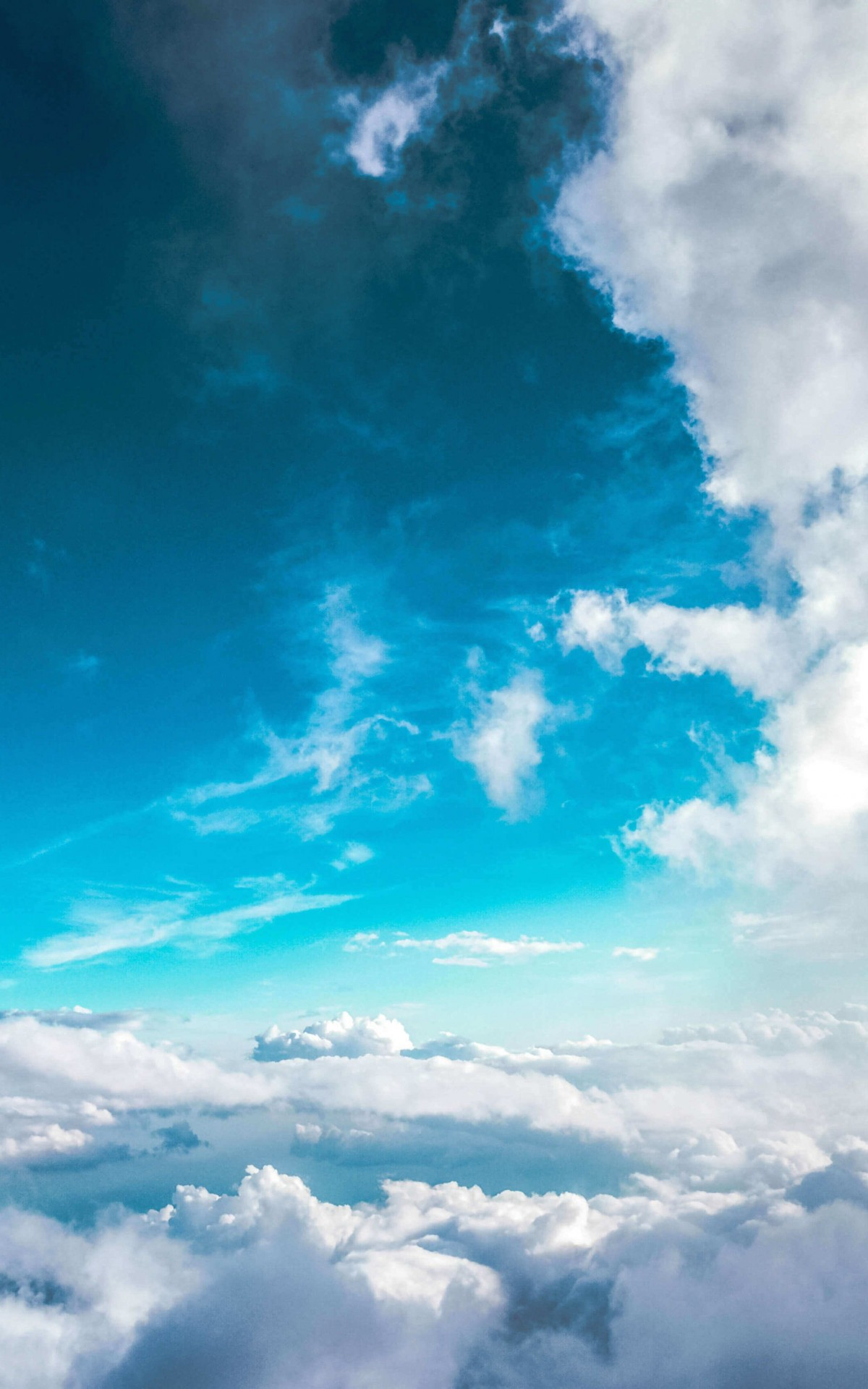 Cloudy Blue Sky Wallpaper for Amazon Kindle Fire HDX