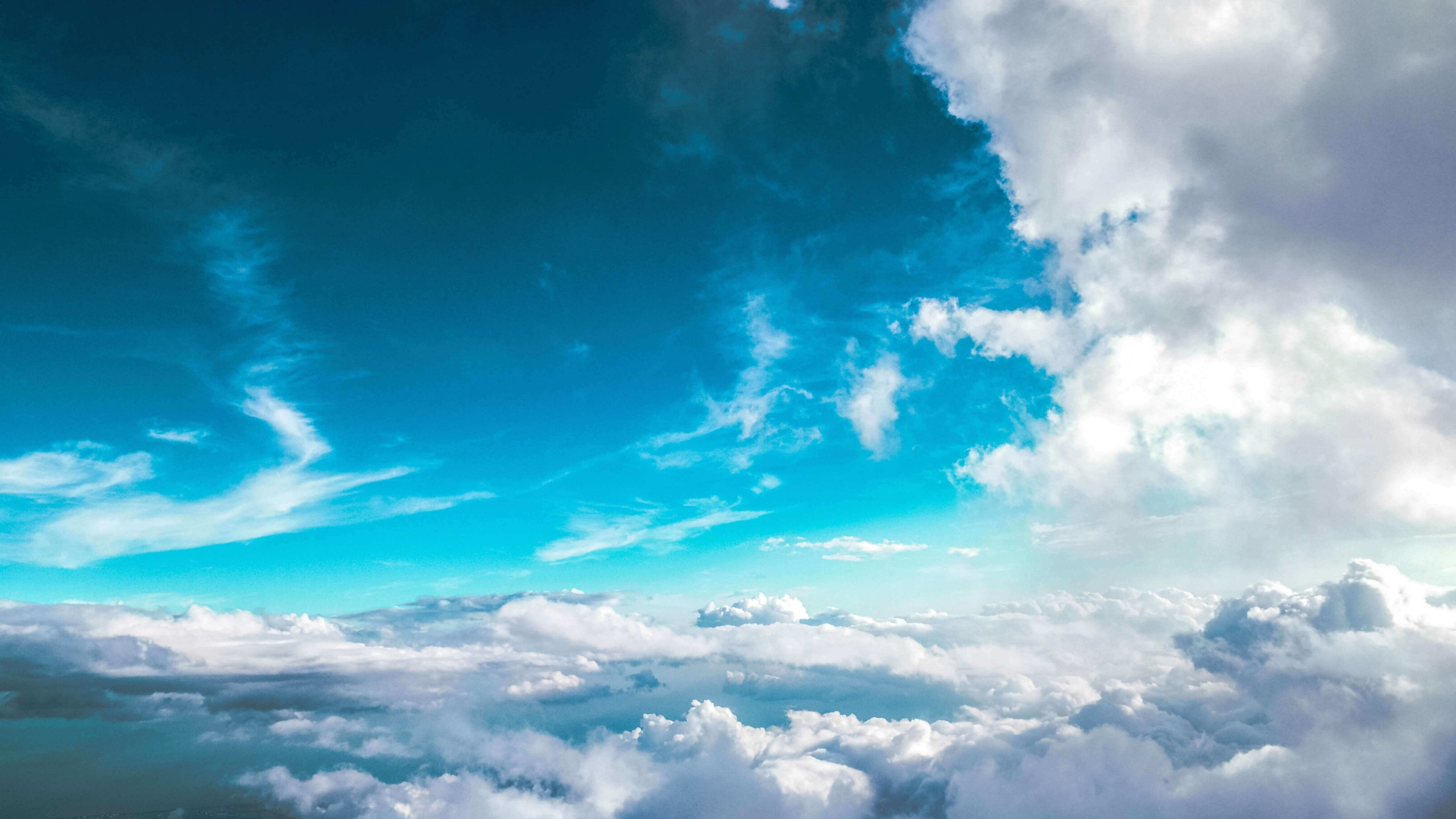 Cloudy Blue Sky Wallpaper for Social Media YouTube Channel Art