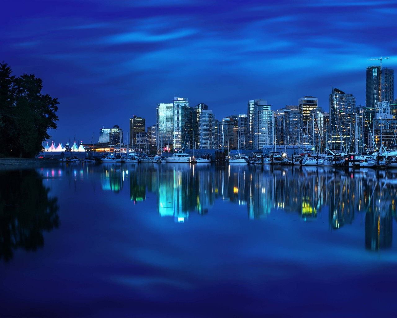Coal Harbour Marina, Vancouver Wallpaper for Desktop 1280x1024